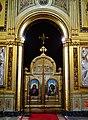 Trieste Tempio serbo-ortodosse della Santissima Trinità e di San Spiridone Innen Iconoastasi 6.jpg