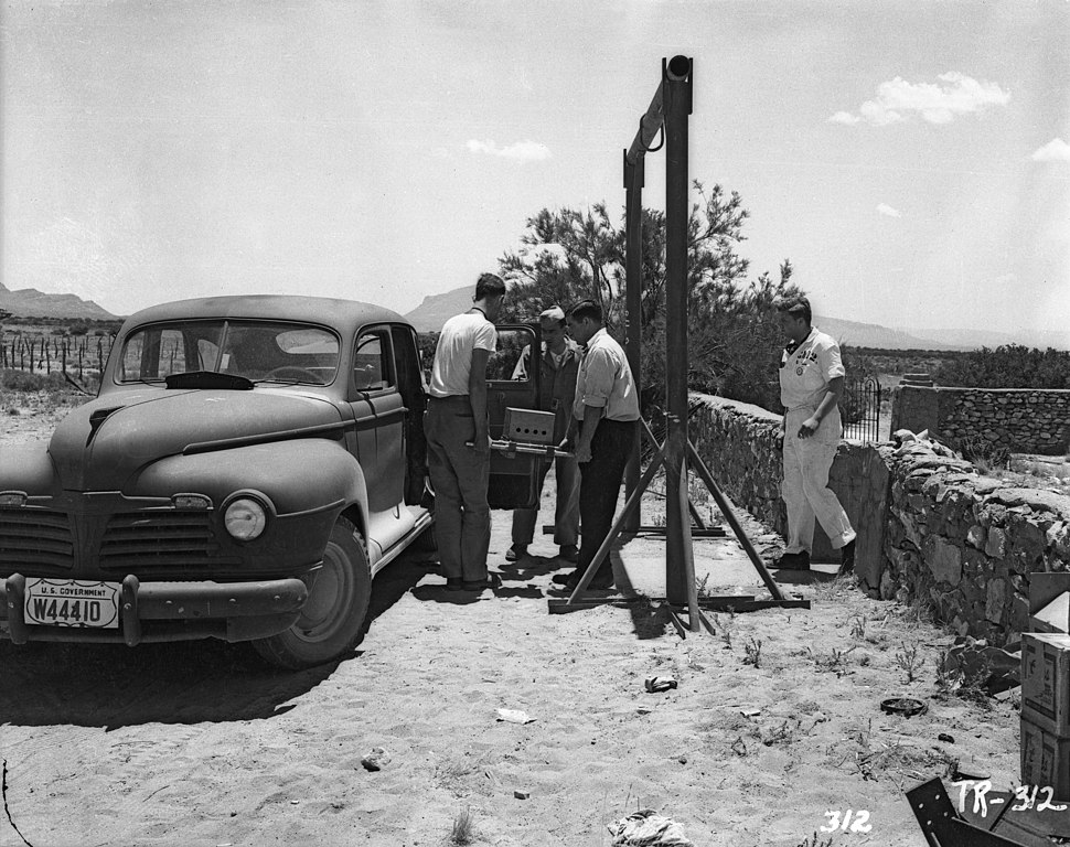 Trinity Test - Vital Components are loaded at the old McDonald Ranch for the trip to the test site