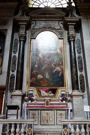 Carlo Giuseppe Ratti - Trinity and Saints in Santa Maria delle Vigne, Genoa