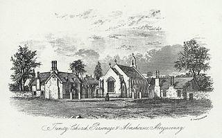 Trinity church, Parsonage & the Almshouses, Abergavenny