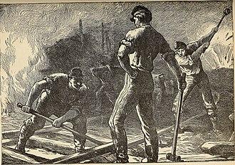 Confederate railroads in the American Civil War - Union troops destroying a railroad
