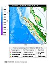 NOAA map of quake epicenter