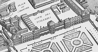 Insurrection of 10 August 1792 - The Tuileries Palace, Louis XVI's residence at the time of the insurrection