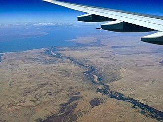 Turkwel River - Seen entering Lake Turkana