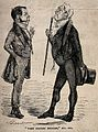 Two doctors aloof from one another in disagreement. Wood eng Wellcome V0010907.jpg
