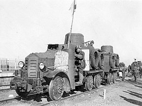 Type 91 Broad-gauge Railroad Tractor hooked to another Type 91 Broad-gauge Railroad Tractor.jpg