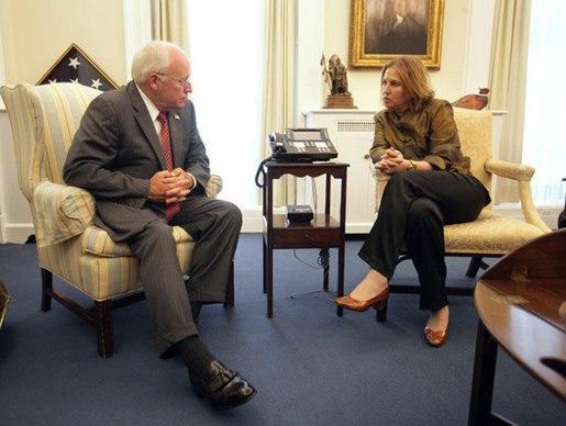 Tzipi Livni with Dick Cheney, September 14, 2006
