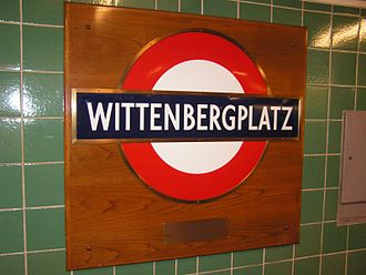 Wittenbergplatz (Berlin U-Bahn) - London Tube's sign
