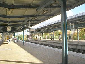 Berlin Wuhletal station - The U-Bahn platforms at Wuhletal