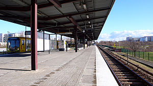 Cottbusser Platz (Berlin U-Bahn) - Platform of the station