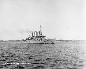 USS Montana (ACR-13) - Montana on 4 May 1912