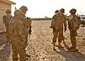 U.S. Army Lt. Col. Robert Marshal, second from right, the commander of Security Force Advise and Assist Team 6, 3rd Brigade Combat Team, prepares to depart Assistance Platform Matun Hill in Khost province 140318-A-YK672-144.jpg