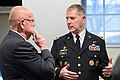 U.S. Army Lt. Gen. Robert P. Lennox speaks with retired Gen. Gordon R. Sullivan, a former chief of staff of the Army, before a retirement ceremony for Lennox at Conmy Hall at Joint Base Myer-Henderson Hall, Va 140117-D-KC128-031.jpg