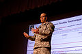U.S. Army Maj. Gen. Richard P. Mustion the commanding general of the Human Resources Command, speaks with Army officers from Joint Base Lewis-McChord, Wash., at Carey Theater March 27, 2013 130327-A-FS521-013.jpg