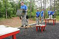 U.S. Soldiers' spouses move through obstacles in the Leader's Reaction course during Aviation Spouses Day at Fort 130607-A-SM724-664.jpg