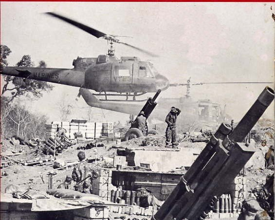 UH-1Es at Fire Base Cunningham