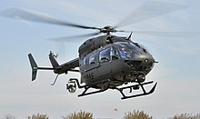 A US Army UH-72 landing at The Pentagon in Washington DC