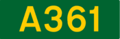 A361 road shield