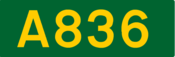 A836 road shield