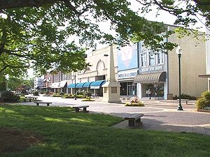 Hickory, North Carolina - Union Square in Downtown Hickory