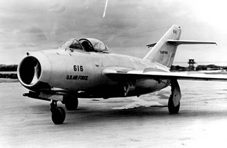 Operation Moolah - MiG-15 delivered by No Kum-Sok, a defecting North Korean pilot to the US Air Force