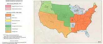 Organized incorporated territories of the United States - Image: USA Territorial Growth 1830
