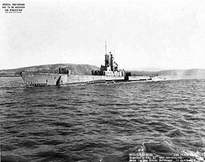 Donald Stott - The USS Perch, from which Stott launched his final mission