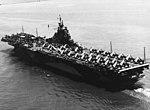 USS Ticonderoga (CV-14) underway in Hampton Roads on 26 June 1944.jpg