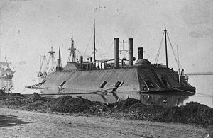 Siege of Port Hudson - The USS Essex burst two of its guns and suffered 14 hits in a short battle with the guns of Port Hudson, September 7, 1862.