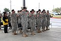 "US Army 53162 Unit leaders, assigned to the 4th Brigade Combat Team, 1st Cavalry Division, sang the ""Army Song"" during the newly formed Co. C., 4th Brigade Special Troops Battalion, 4th Brigade Combat Team 1st Cava.jpg"