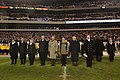 US Navy 031206-N-2383B-182 Senior leadership pays tribute to Army and Navy alma mater songs at the conclusion of the 104th meeting between the Army Black Knights and Navy Midshipmen.jpg