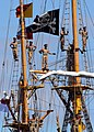 US Navy 070914-N-4965F-006 Indonesian naval cadets line the mast of Indonesian naval training ship KRI Dewaruci as she makes her way pierside Naval Station Pearl Harbor.jpg