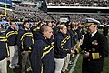 US Navy 081206-N-8273J-253 Chief of Naval Operations Adm. Gary Roughead congratulates new Navy recruits who enlisted during the 109th annual Army-Navy football game.jpg