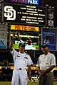US Navy 100929-N-3610L-138 Vice Adm. Richard Hunt waves to the crowd before a baseball game between the San Diego Padres and the Chicago Cubs.jpg