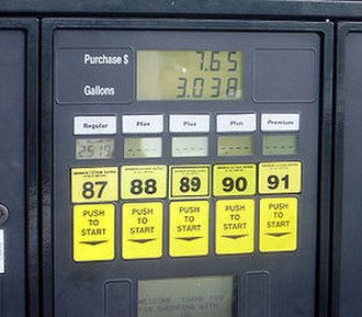 Gallon - A fuel station in the United States displaying fuel prices per US gallon