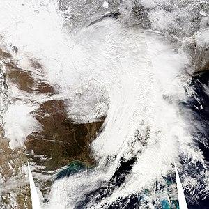 February 9–10, 2010 North American blizzard - Image: US winter cyclone 09 feb 2010 1915Z