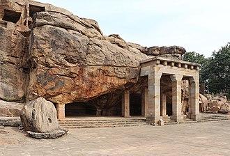 Mahameghavahana dynasty - Image: Udayagiri Caves Hathi Gumpha