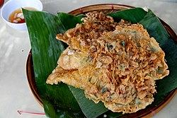 Ukoy (shrimp fritters) from Vigan, Philippines.jpg