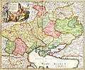 Ukrania quae et Terra Cosaccorum cum vicinis Walachiae, Moldoviae, Johann Baptiste Homann (Nuremberg, 1720).jpg