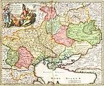 Ukrania quae et Terra Cosaccorum cum vicinis Walachiae, Moldoviae, Johann Baptiste Homann (Norimberga, 1720)