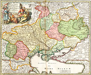 Red Ruthenia - Map of the early modern period where Russia Rubra = Vkraine