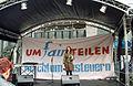 Umfairteilen - Reichtum besteuern, Bühne auf der Georgstraße in Hannover, bundesweiter Aktionstag des Bündnisses, Jeannine Geißler, verdi bezirk Hannover Leine-Weser.jpg