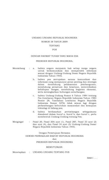 File:Undang-Undang Republik Indonesia Nomor 38 Tahun 2009.djvu