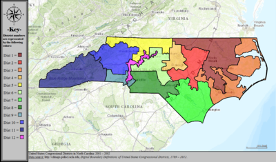 United States Congressional Districts in North Carolina, 2001 – 2002.tif