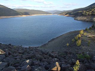 Upper Yarra Reservoir lake in Australia