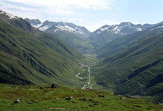 History of Uri - Urseren valley from the Furka Pass