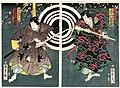 Utagawa Kunisada II - Actors Ichimura Kakitsu IV as Fuwa Bansaku and Sawamura Tosshô II as Nagoya Kosanza.jpg