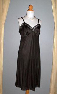 Slip (clothing) womans undergarment worn beneath a dress or skirt