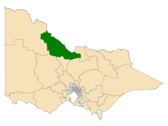 Electoral district of Murray Plains - Location of Murray Plains (dark green) in Victoria