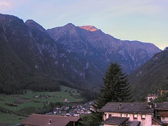 Martell, South Tyrol - View towards the village